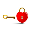 the key to heart vector image vector image
