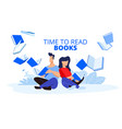 time to read books vector image