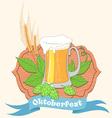 Vintage poster or greeting card for Oktoberfest vector image