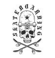vintage skateboarding badge vector image vector image