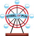 Wheel Of Fun vector image vector image