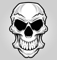 White angry skull vector | Price: 3 Credits (USD $3)