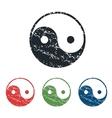 Ying yang grunge icon set vector image