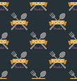 spoon fork seamless pattern cooking badge vector image