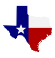 map of the US state of Texas vector image