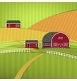 01 Eco Farm landscape vector image vector image