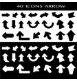 40 icons set arrows on white background vector image