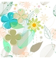 Abstract flower seamless background vector image vector image