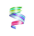 abstract paint brush stroke colorful curl