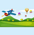 airplane and sky activity vector image vector image