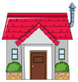 an isolated simple house vector image vector image