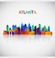 atlanta skyline silhouette in colorful geometric vector image