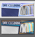 banners for dry cleaning vector image