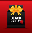 black friday sale promotion concept banner vector image vector image