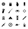 black military icon set vector image vector image