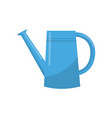 blue watering can portable water container with vector image vector image