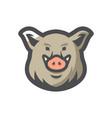 boar head wild pig icon cartoon vector image vector image