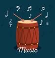 bongo tropical instrument icon vector image vector image