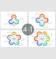 bundle of round multicolored circles vector image