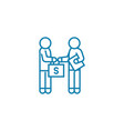 business deal linear icon concept deal vector image vector image