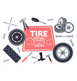 car service maintenance icons set tire fitting vector image