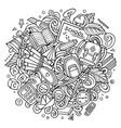 cartoon cute doodles back to school vector image vector image
