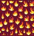 cartoon fire flames background pattern vector image vector image