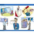 cartoon politics concepts set vector image