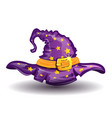 cartoon witch hat vector image vector image