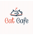 cat cafe vector image vector image