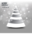christmas card with abstract tree vector image vector image