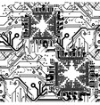 circuit board pattern vector image vector image
