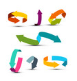 colorful arrows set double arrow icons graphic vector image