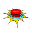 comic red button template vector image vector image