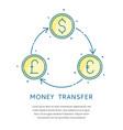 currency exchange logo vector image vector image