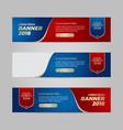 design banner web template vector image