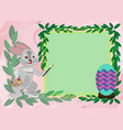 easter card template with rabbit vector image