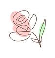 flower one line art logo minimalist vector image vector image