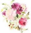 Flowers watercolor vector image
