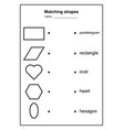 Geometry shape matching game educational