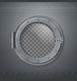 gray metal porthole realistic composition vector image vector image