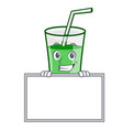 grinning with board green smoothie character vector image vector image