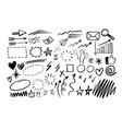 hand drawn doodle design graphic elements vector image