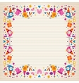 Happy Birthday border lined paper card with space vector image