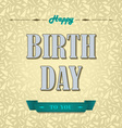 Happy birthday poster background vector image vector image