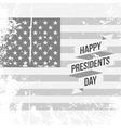 Happy Presidents Day text and Ribbon on USA Flag vector image vector image