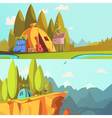 Hiking Banners Set vector image