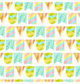 holiday seamless pattern with garland flags vector image vector image