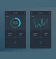 infographic dashboard template vector image vector image