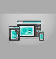 laptop tablet and smartphone screns cross platform vector image